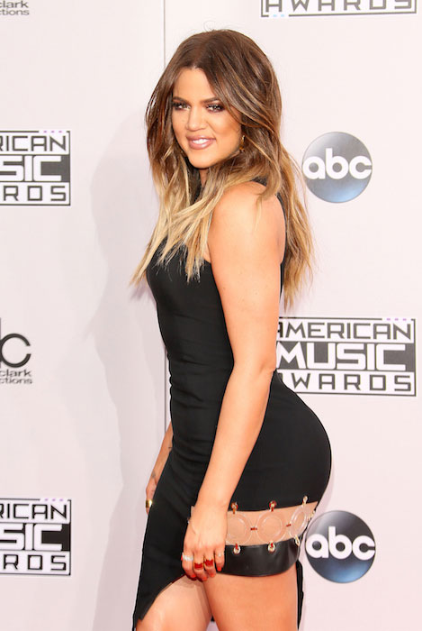 Khloe Kardashian at American Music Awards 2015