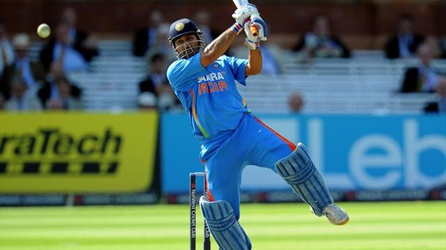 Mahendra Singh Dhoni playing shot