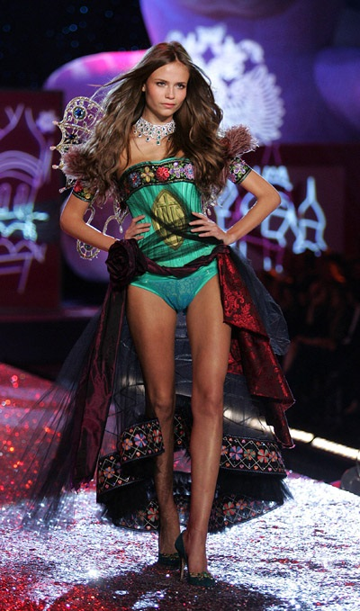 Natasha Poly during Victoria's Secret Fashion Show