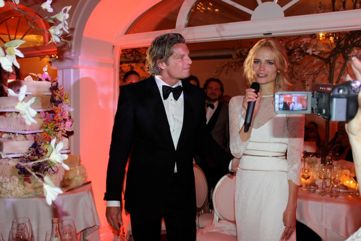 Natasha Poly with husband Peter Bakker