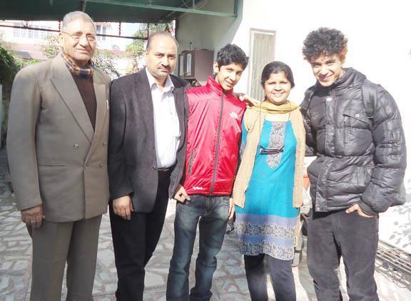 Raghav Juyal with family