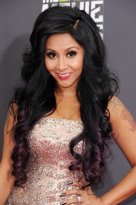 Nicole Snooki Polizzi during the MTV Music Awards 2013