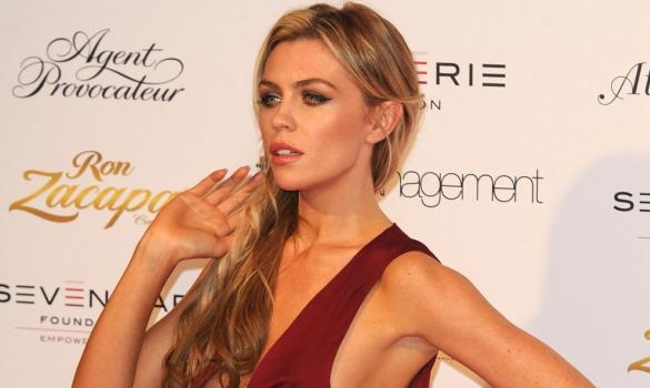 Abbey Clancy lingerie model