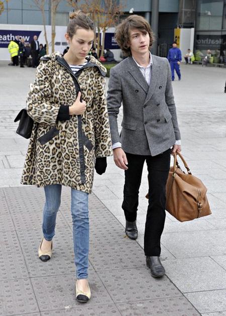 Alexa Chung with ex-boyfriend Alex Turner