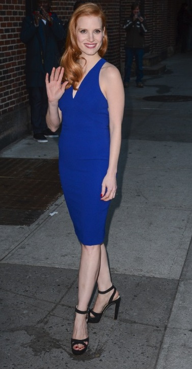 Jessica Chastain Blue dress