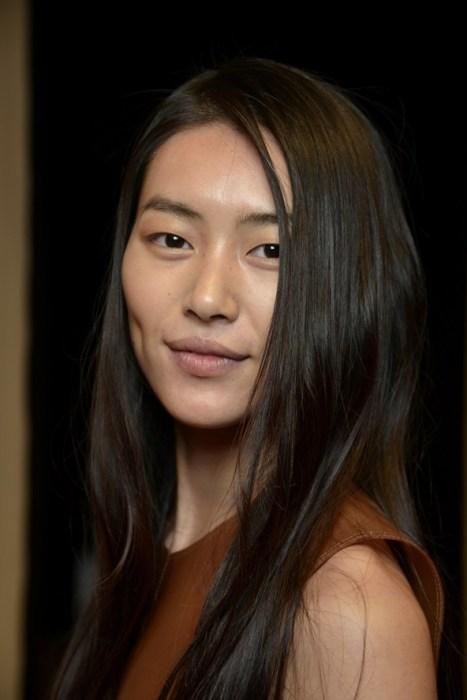 Liu Wen Face Closeup