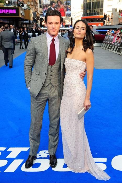 Jordana Brewster and Luke Evans