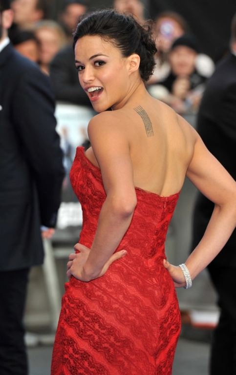 Michelle Rodriguez hot tattoo