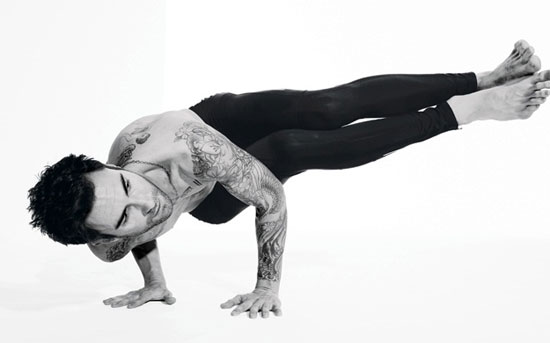 Adam Levine Yoga Pose