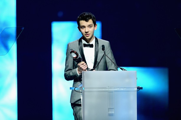 Asa Butterfield during Award Function