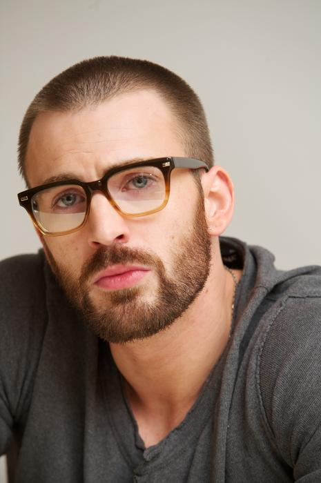 Chris Evans bearded