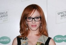 Christina Hendricks in spectacles