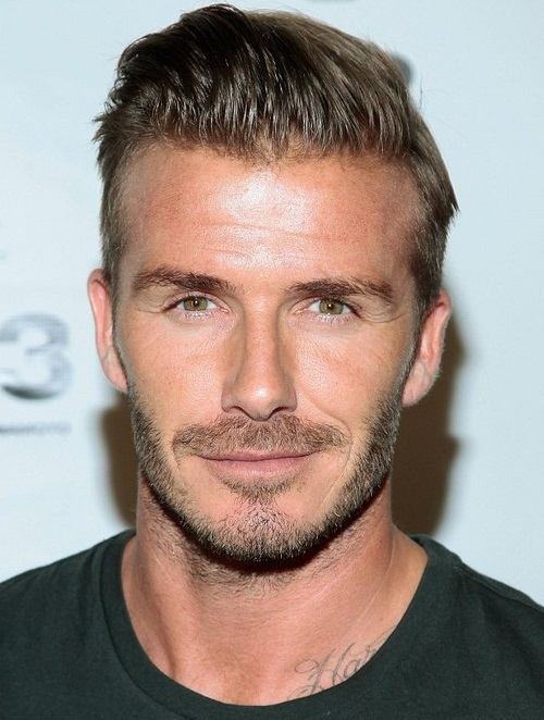 David Beckham face closeup