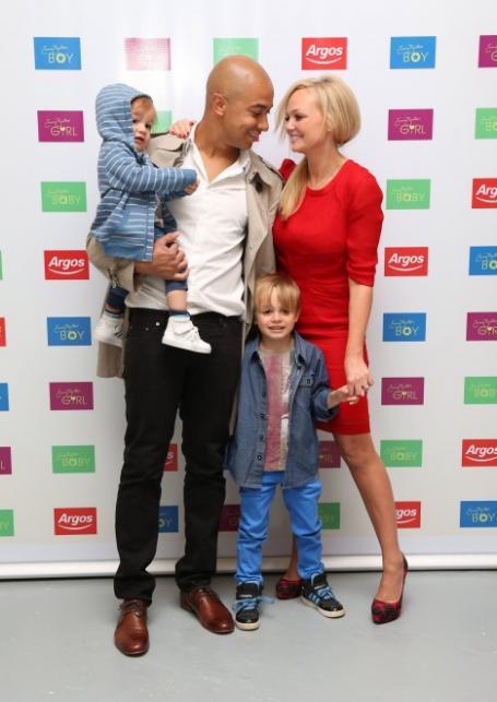 Emma Bunton and Jade Jones with family