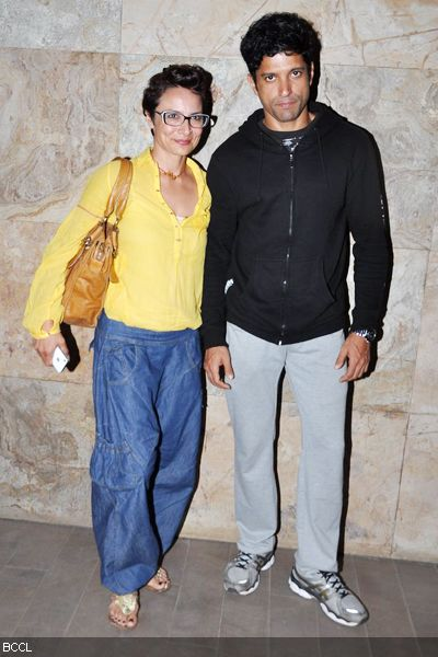 Farhan Akhtar with wife Adhuna Bhabani