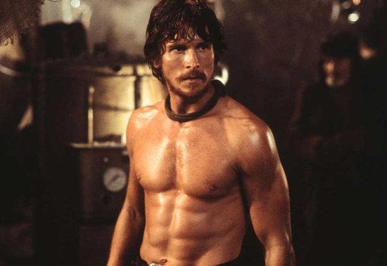 Christian Bale shirtless body