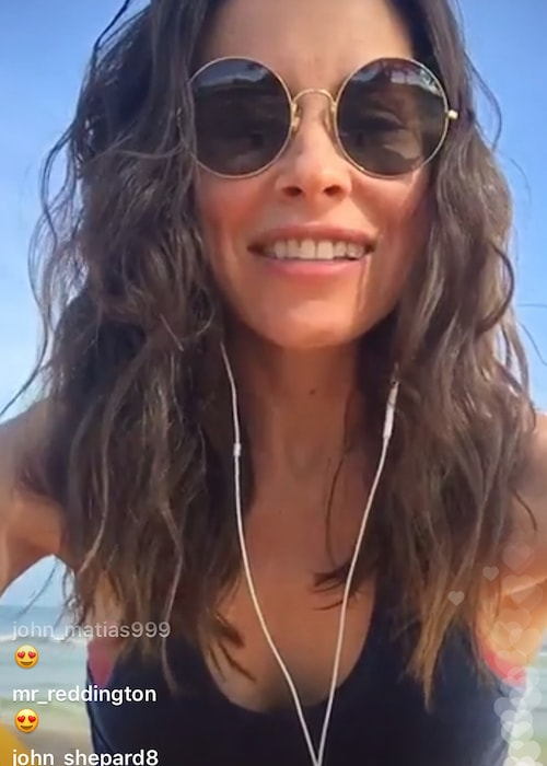Evangeline Lilly in a still from the live Instagram chat in May 2018