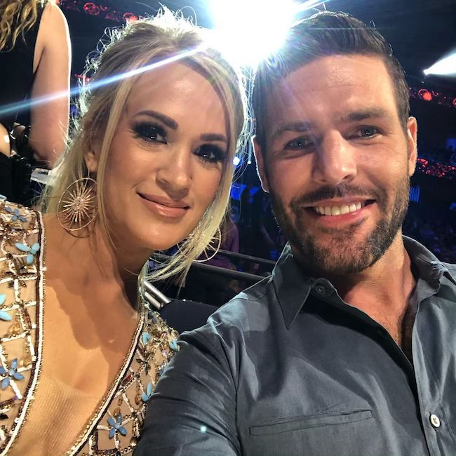 Mike Fisher and Carrie Underwood in June 2019