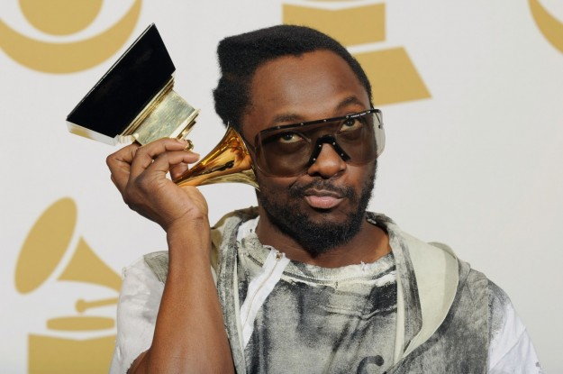 black eyed peas' will.i.am with grammy award