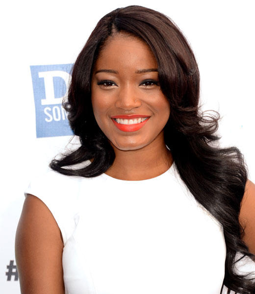 Keke Palmer in white dress