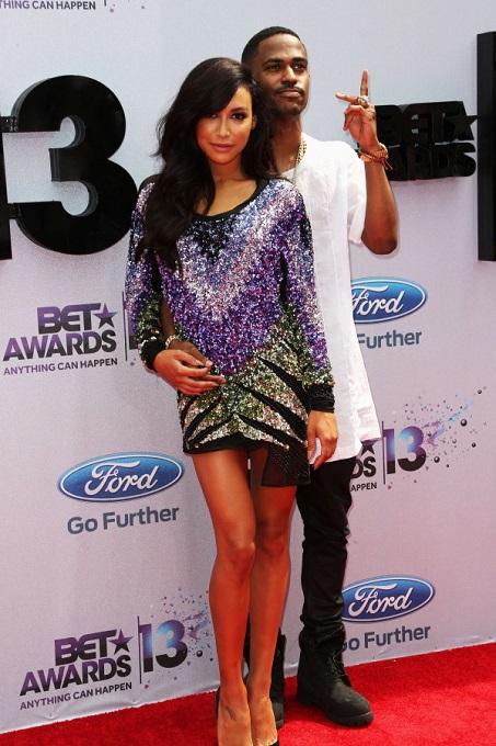 Big Sean with girlfriend Naya Rivera