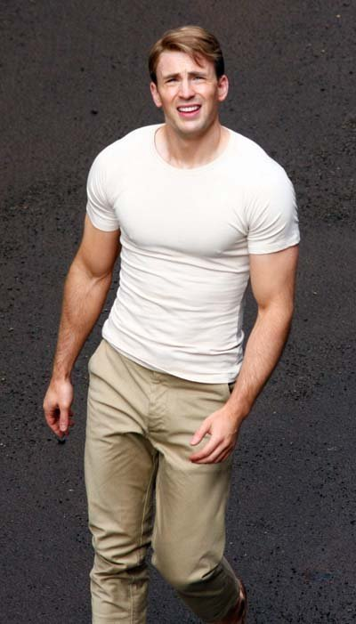 Chris Evans buffed body