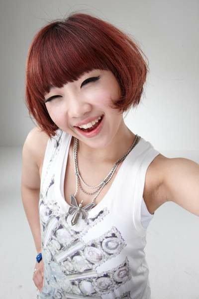 """Gong """"Minzy"""" Minji smiling"""