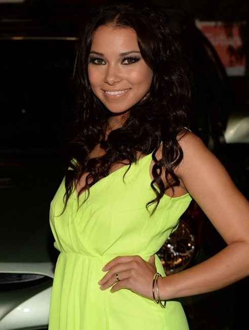 Jessica Parker Kennedy green dress