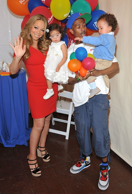Mariah Carey, Nick Cannon and Twins