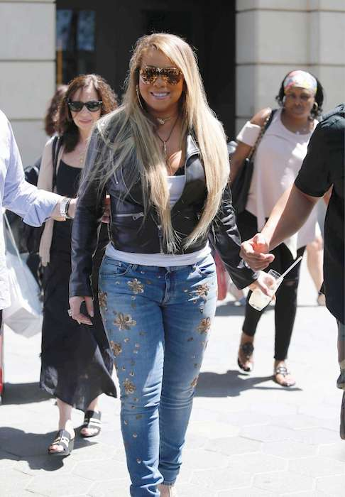 Mariah Carey out in Barcelona in June 2017