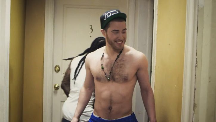 Mike Posner shirtless