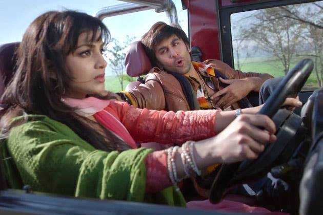 Pallavi Sharda and Ranbir Kapoor in a still from the movie Besharam