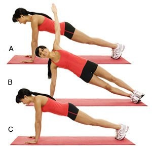 Plank Pushups