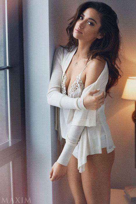 Shay Mitchell posing for Maxim's February 2015 Issue