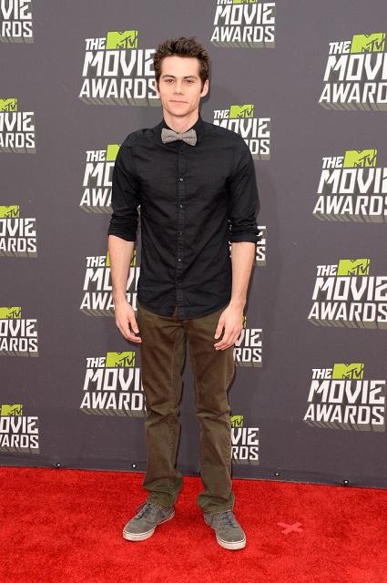 Dylan O'Brien during MTV Movie Awards