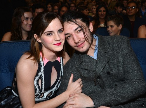 Emma Watson and Ezra Miller
