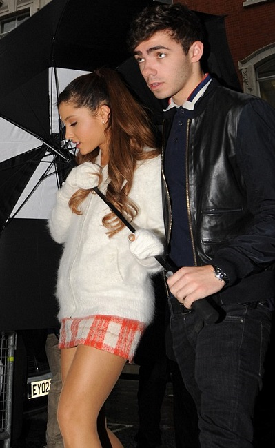 Nathan Sykes with hot girlfriend Ariana Grande