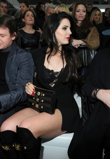 Lana Del Rey at Versace Fashion Show in Milan