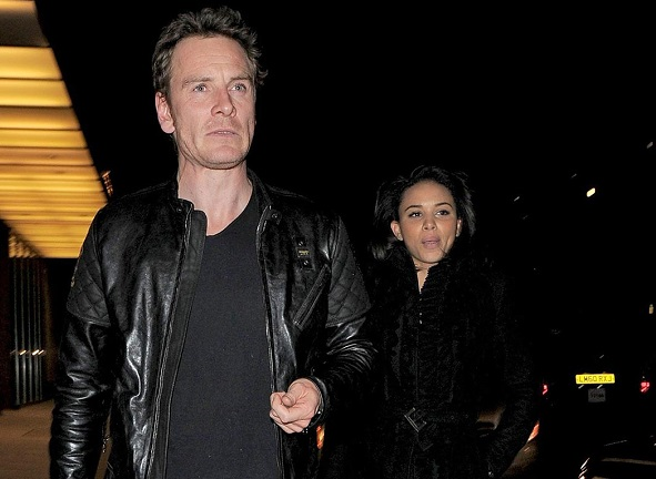 Michael Fassbender and Louise Hazel