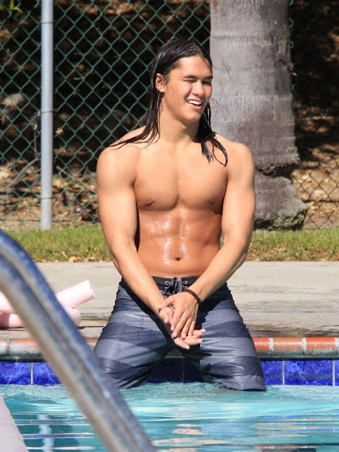 Booboo Stewart shirtless body