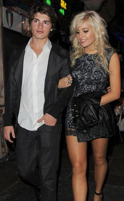 Gregg Sulkin and ex-girlfriend Pixie Lott