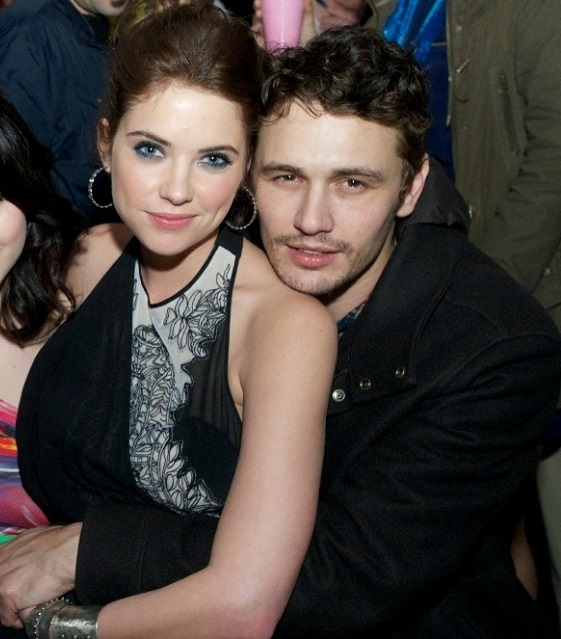 James Franco and her ex-girlfriend Ashley Benson.