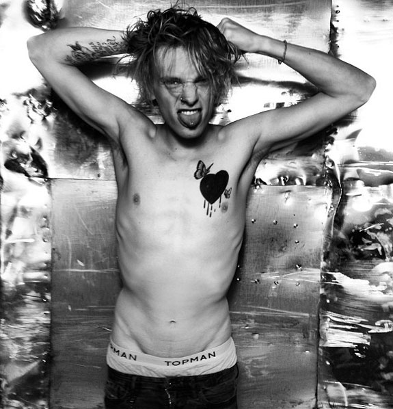 Jamie Campbell Bower shirtless