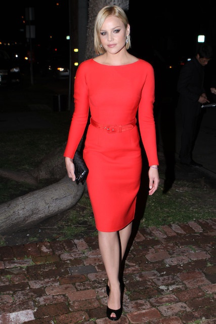 Abbie Cornish in red dress