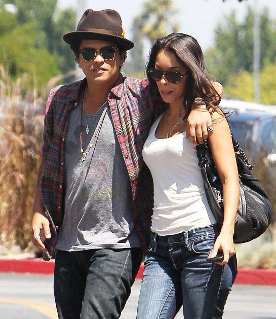Bruno Mars with his Puerto Rican model girlfriend Jessica Caban