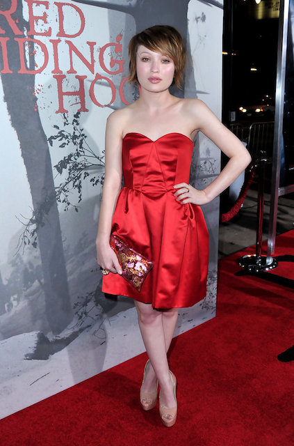 Emily Browning during Red Riding Hood premiere