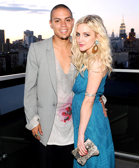 Evan Ross and her beau Ashlee Simpson