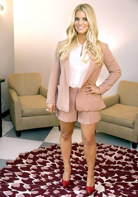 Jessica Simpson in slim trim figure
