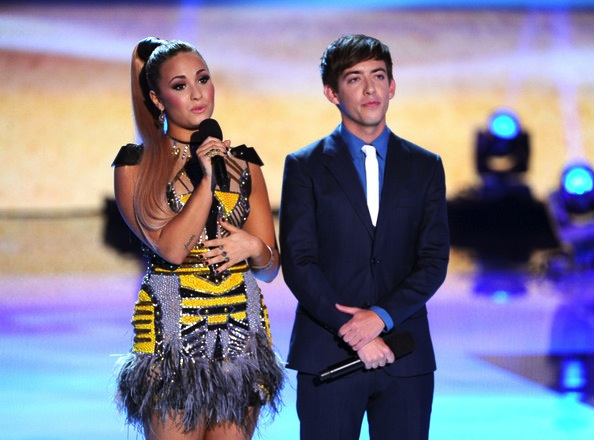 Kevin McHale and Demi Lovato during Teen Choice Awards 2012