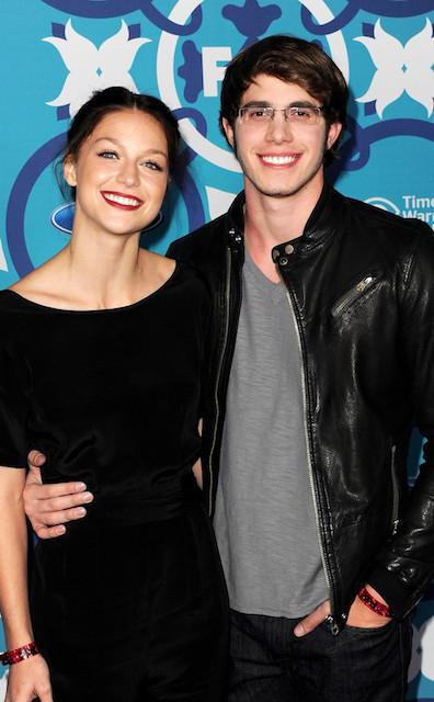 Melissa Benoist and her fiance Blake Jenner